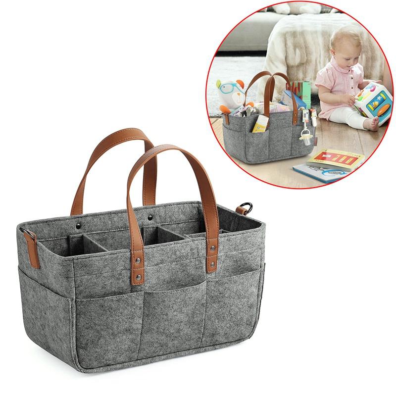 Baby-Diaper-Caddy-Organizer-Portable-Holder-Shower-Basket-Portable-Nursery-B6N4 thumbnail 5