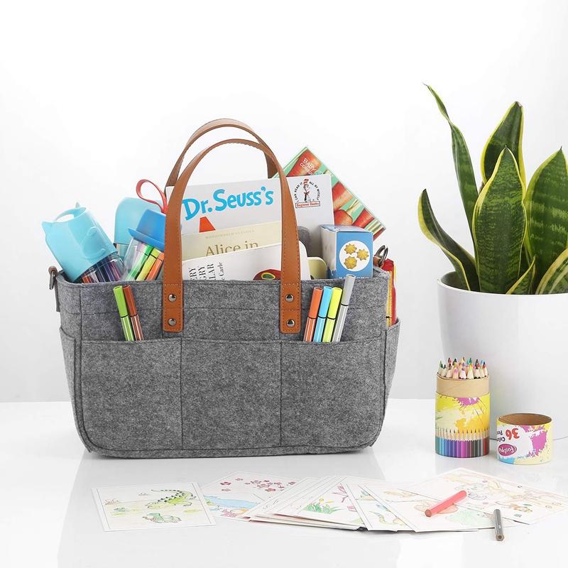 Baby-Diaper-Caddy-Organizer-Portable-Holder-Shower-Basket-Portable-Nursery-B6N4 thumbnail 6
