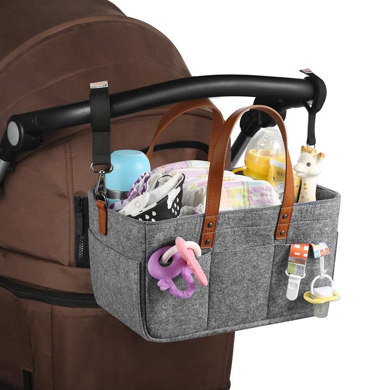 Baby-Diaper-Caddy-Organizer-Portable-Holder-Shower-Basket-Portable-Nursery-B6N4 thumbnail 7