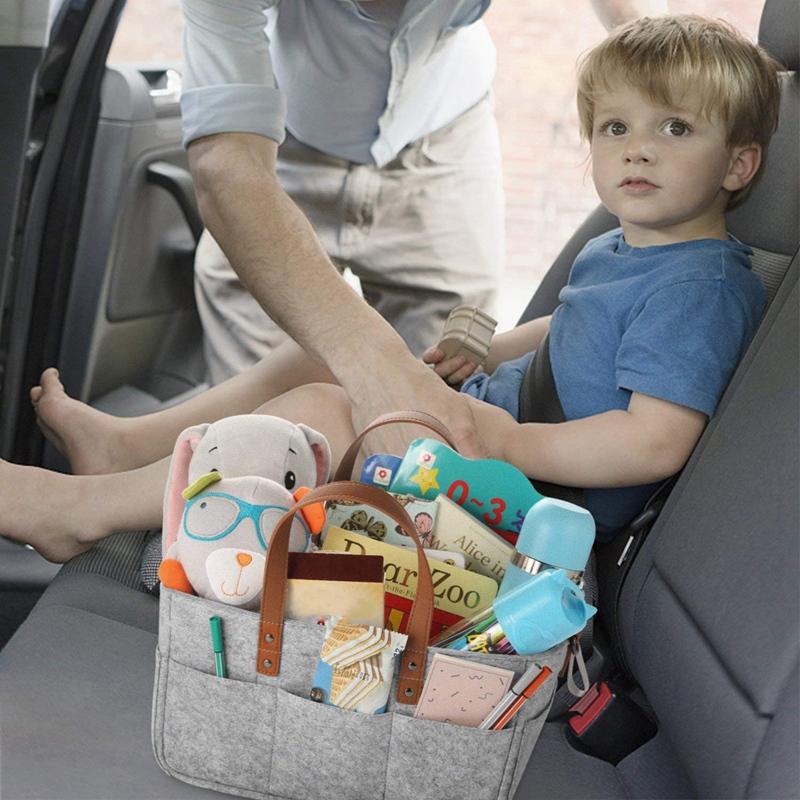 Baby-Diaper-Caddy-Organizer-Portable-Holder-Shower-Basket-Portable-Nursery-B6N4 thumbnail 9