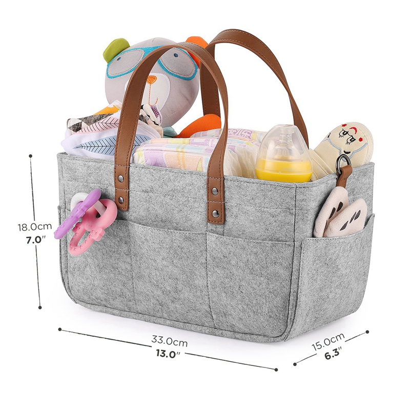 Baby-Diaper-Caddy-Organizer-Portable-Holder-Shower-Basket-Portable-Nursery-B6N4 thumbnail 11