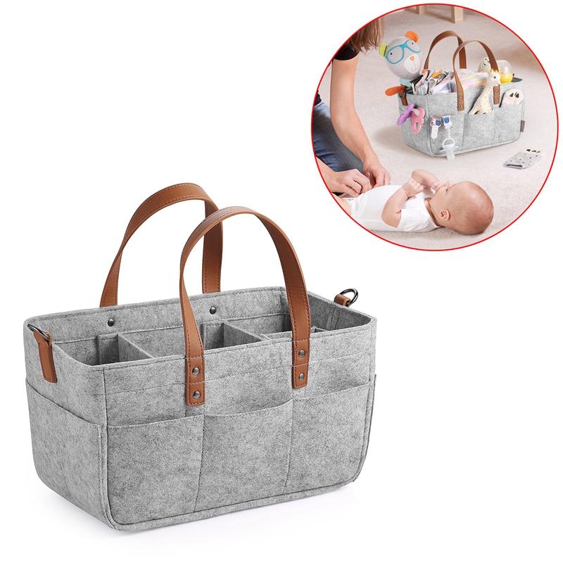Baby-Diaper-Caddy-Organizer-Portable-Holder-Shower-Basket-Portable-Nursery-B6N4 thumbnail 13