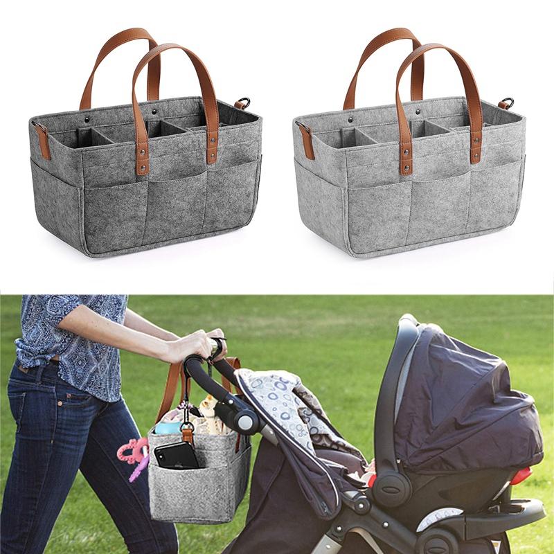 Baby-Diaper-Caddy-Organizer-Portable-Holder-Shower-Basket-Portable-Nursery-B6N4 thumbnail 14
