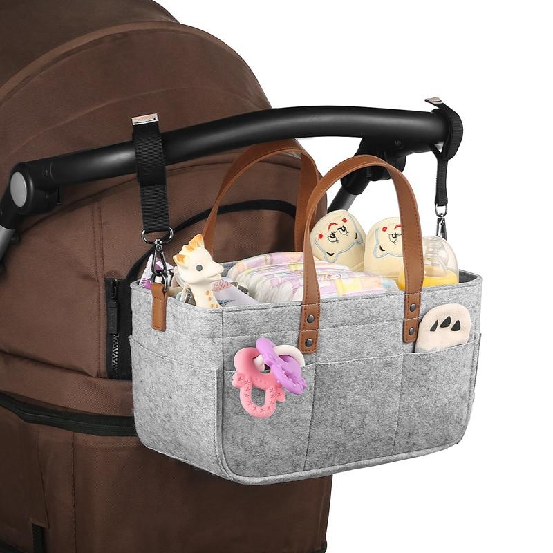 Baby-Diaper-Caddy-Organizer-Portable-Holder-Shower-Basket-Portable-Nursery-B6N4 thumbnail 15