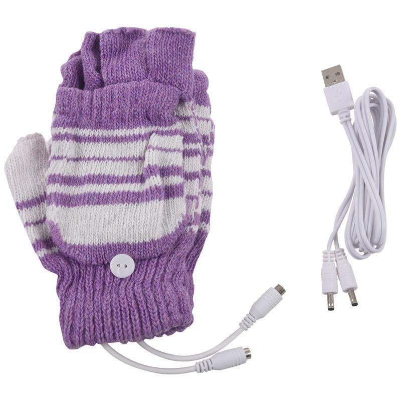 5V-Usb-Powered-Beheizte-Winter-Handwaermer-Halbe-Finger-Waschbar-Handschuhe-K8J3 Indexbild 5