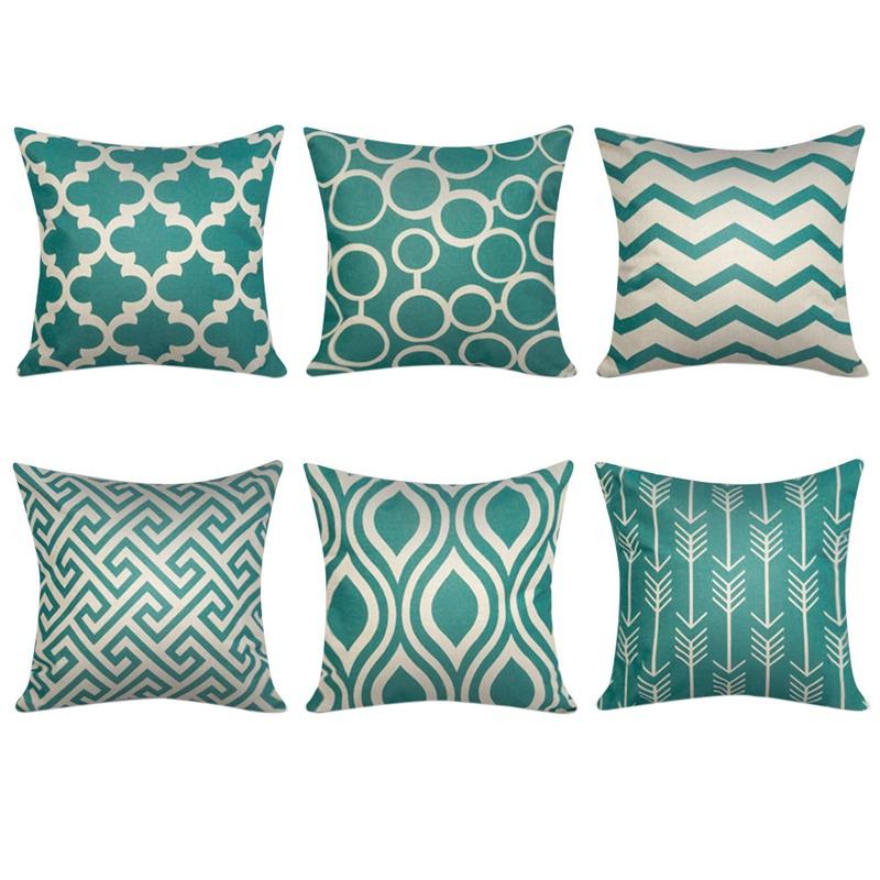 Cuscini Lunghi Letto.Verde Fodera Per Cuscino Decorativo Quadrato Per Cuscini Per