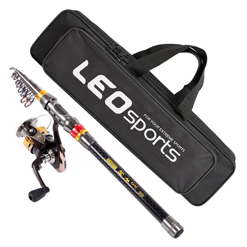 3X (Leo 2.1M Caña Pesca Carrete Carrete Carrete Combo Caña Pesca Carrete Kit con fibra de carbono F X6A6 0a4475