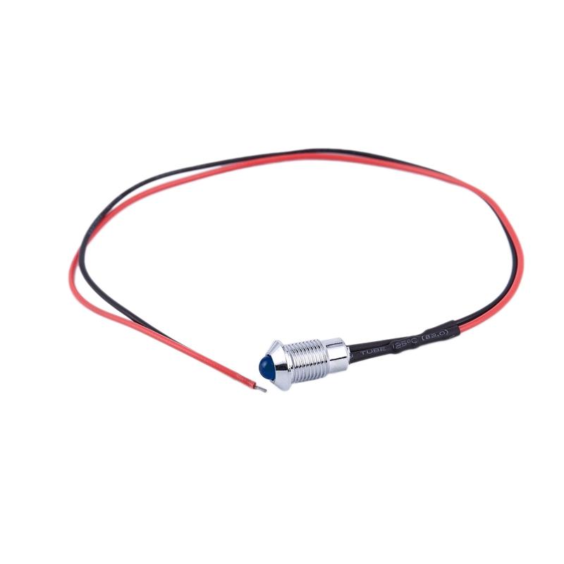 thumbnail 12 - 8mm Car LED Dash Panel Pilot Warning Light Indicator Lamp K6Y8