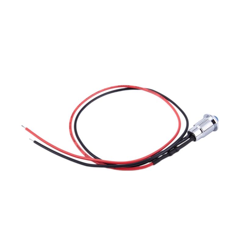 thumbnail 13 - 8mm Car LED Dash Panel Pilot Warning Light Indicator Lamp K6Y8