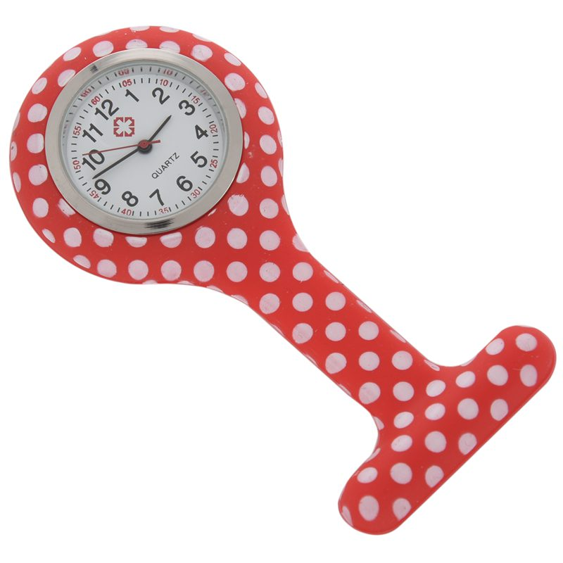 Rose-red-white-flower-pattern-Silicone-Nurses-Brooch-Tunic-Fob-Pocket-Watch-S4U1 thumbnail 27