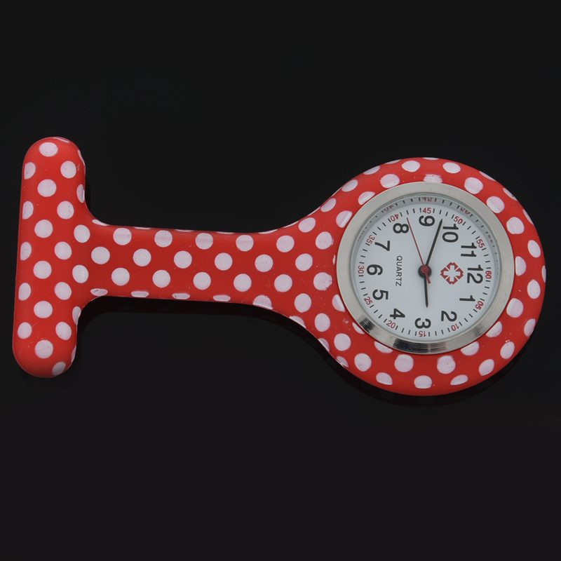 Rose-red-white-flower-pattern-Silicone-Nurses-Brooch-Tunic-Fob-Pocket-Watch-S4U1 thumbnail 33