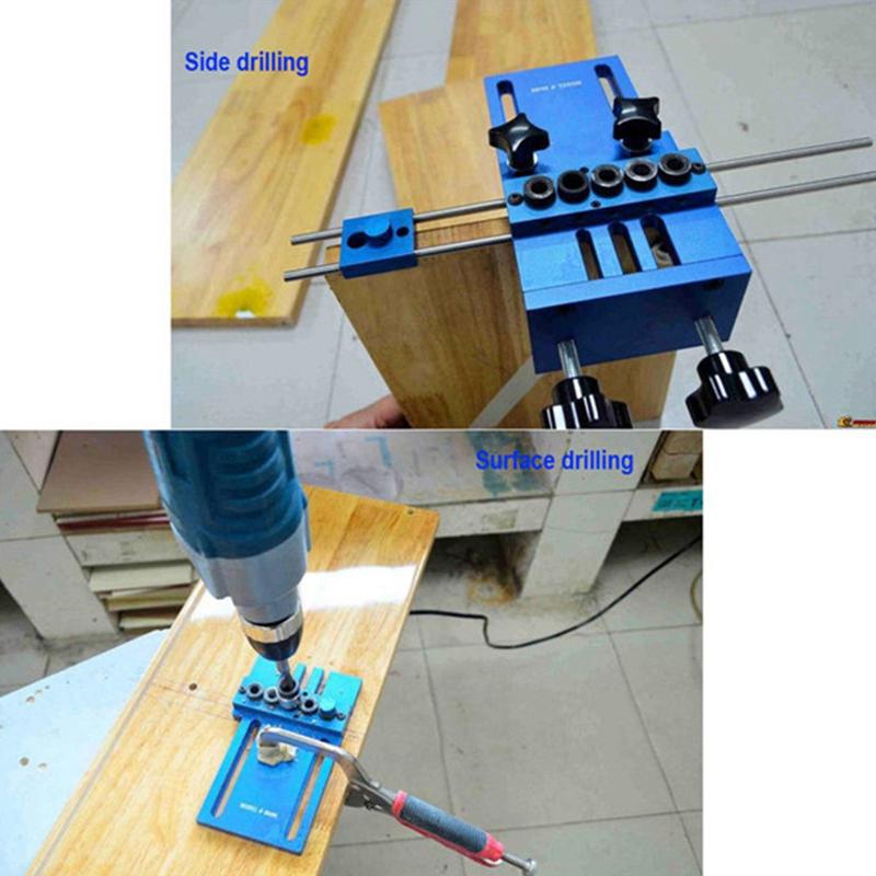 Fengsen-Aluminium-Legierung-Jig-Duebeln-Jig-Set-Holz-Duebel-Bohr-Position-Jig-X3E5 Indexbild 2