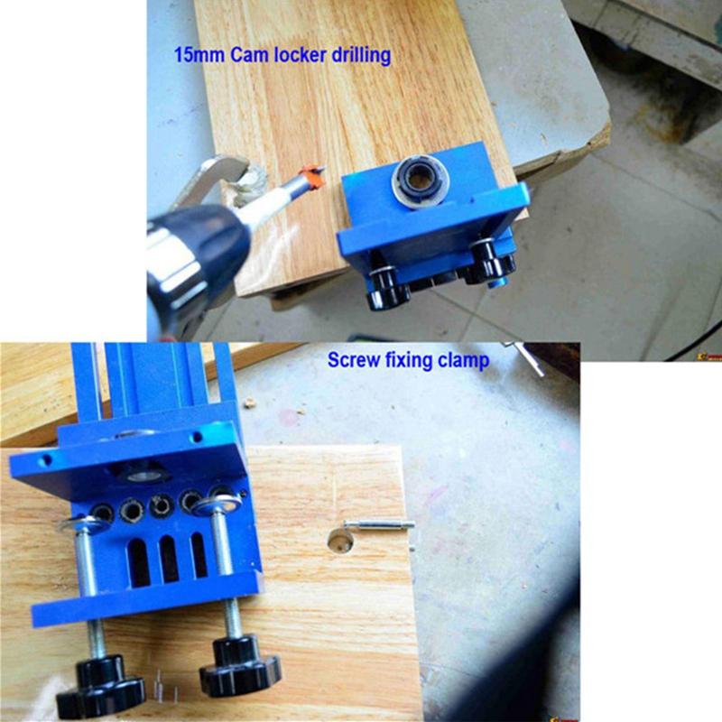 Fengsen-Aluminium-Legierung-Jig-Duebeln-Jig-Set-Holz-Duebel-Bohr-Position-Jig-X3E5 Indexbild 3