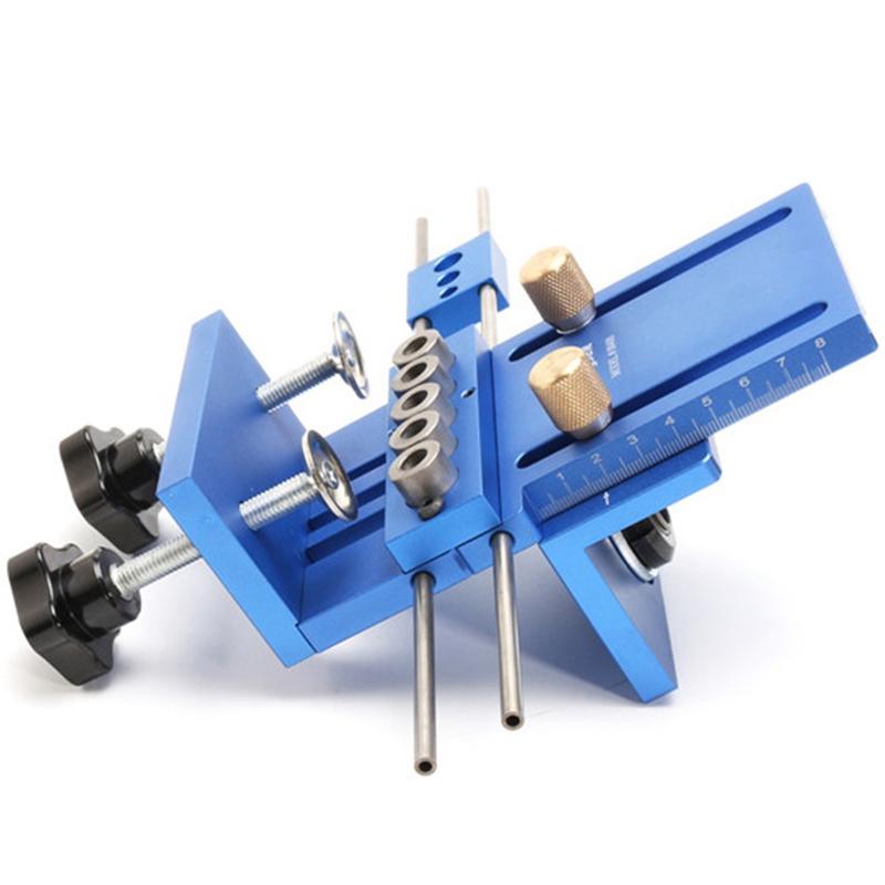 Fengsen-Aluminium-Legierung-Jig-Duebeln-Jig-Set-Holz-Duebel-Bohr-Position-Jig-X3E5 Indexbild 5