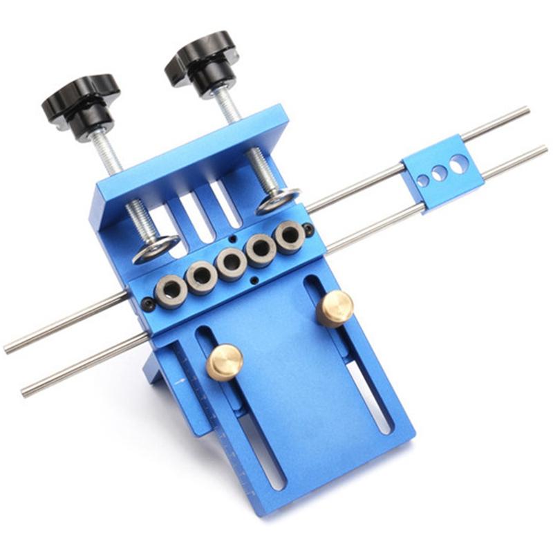 Fengsen-Aluminium-Legierung-Jig-Duebeln-Jig-Set-Holz-Duebel-Bohr-Position-Jig-X3E5 Indexbild 6