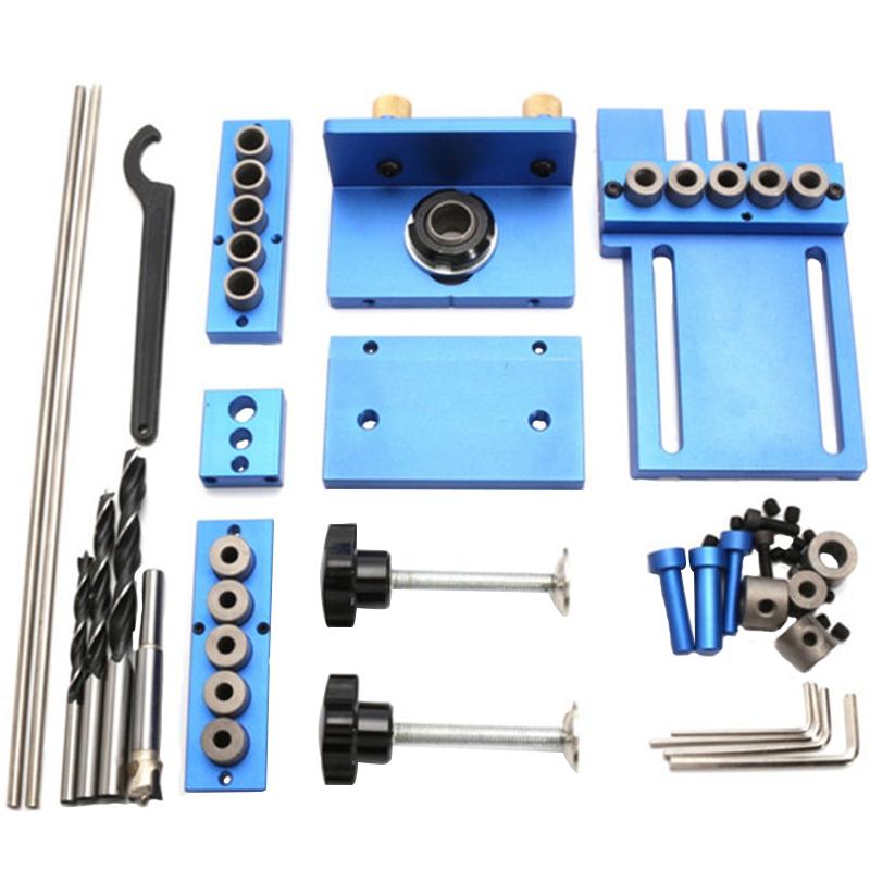 Fengsen-Aluminium-Legierung-Jig-Duebeln-Jig-Set-Holz-Duebel-Bohr-Position-Jig-X3E5