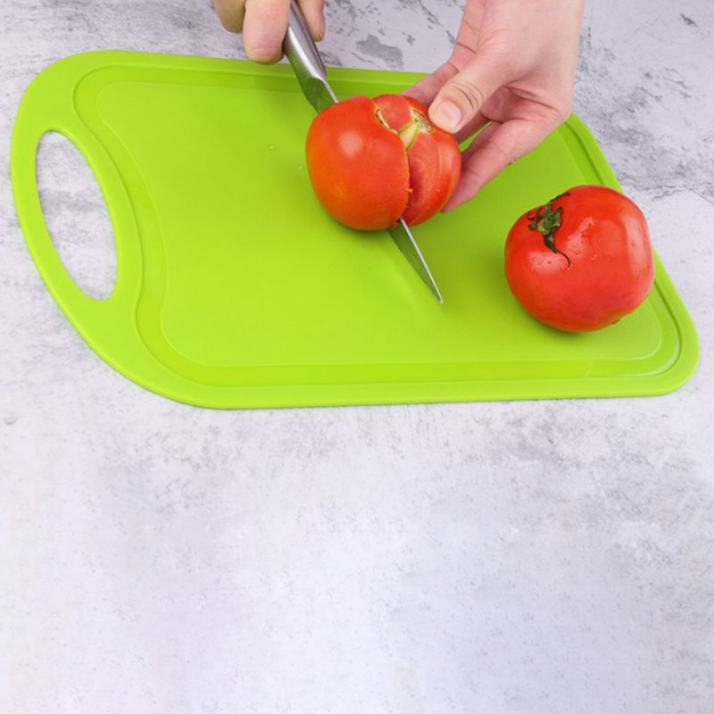 Plastic-Chopping-Block-Meat-Vegetable-Cutting-Board-Non-Slip-Anti-Overflow-Z6Q5 thumbnail 17