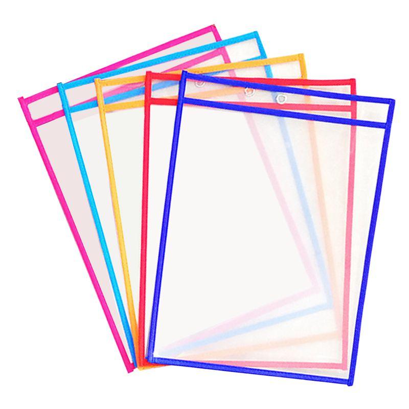 10x-Transparent-Pvc-Reusable-Dry-Erase-Pockets-Storage-Pockets-10pcs-Pens-M-L8W1 thumbnail 2
