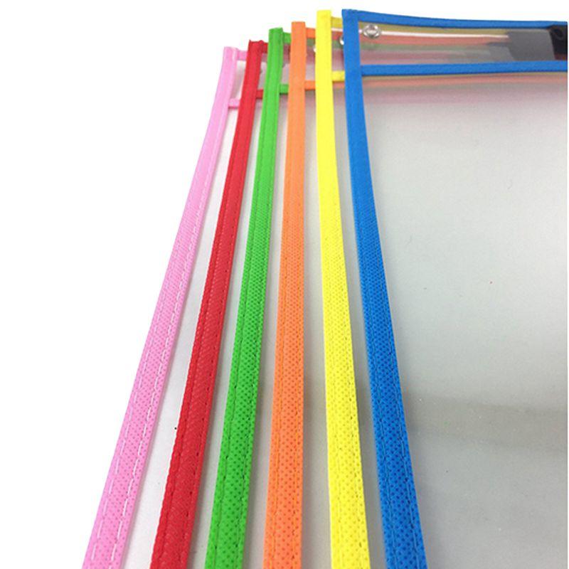 10x-Transparent-Pvc-Reusable-Dry-Erase-Pockets-Storage-Pockets-10pcs-Pens-M-L8W1 thumbnail 4