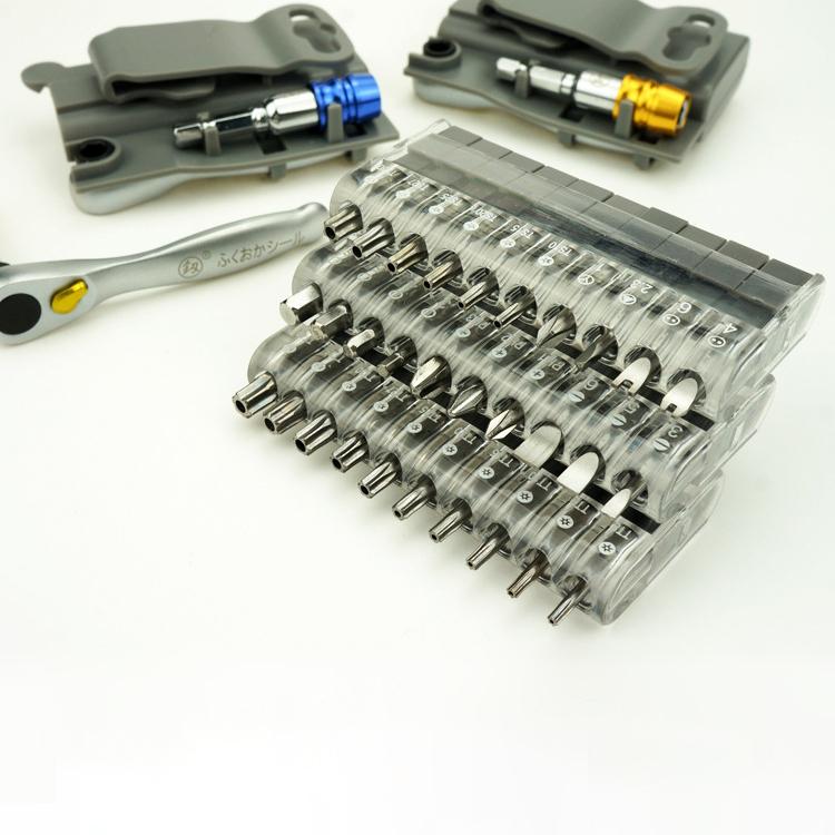 Screwdriver-Multi-Tool-12-In-1-Ratchetset-Ratchet-Handle-10Pcs-Torx-Bit-Set-C7Q6 thumbnail 11