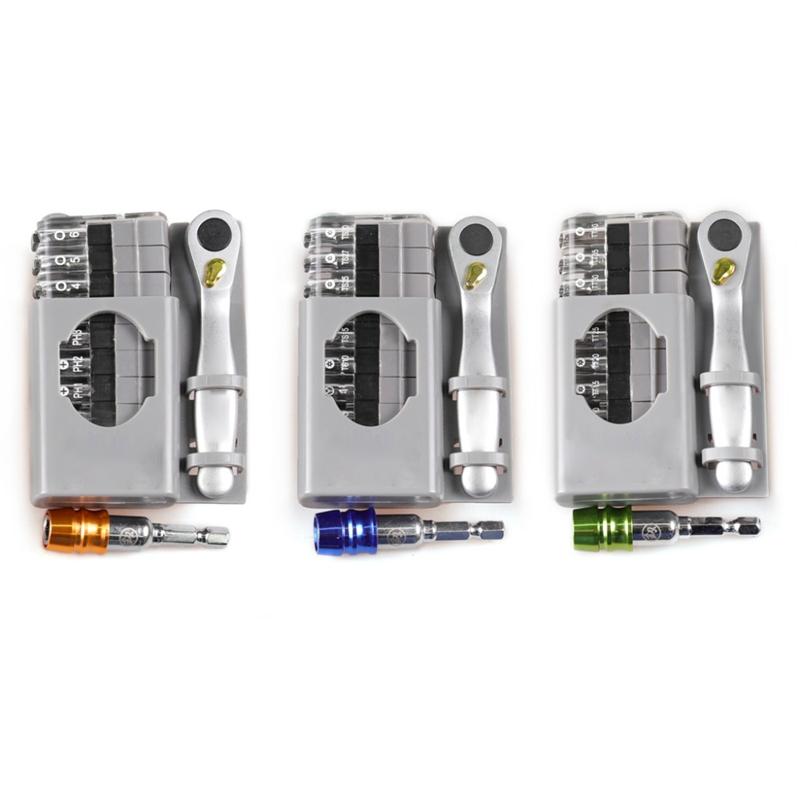 Screwdriver-Multi-Tool-12-In-1-Ratchetset-Ratchet-Handle-10Pcs-Torx-Bit-Set-C7Q6 thumbnail 14