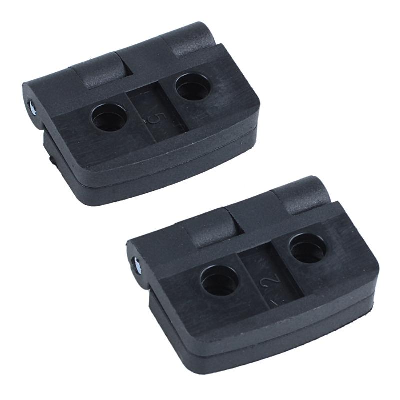 2 x Noir /à trous de charni/ère /à roulement en plastique 40 mm x 40 mm