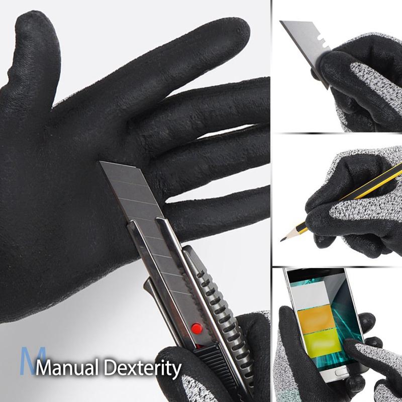 3X-Nivel-5-Guantes-Resistentes-Al-Corte-3D-Ajuste-Elastico-de-Confort-Durade-W6H miniatura 3