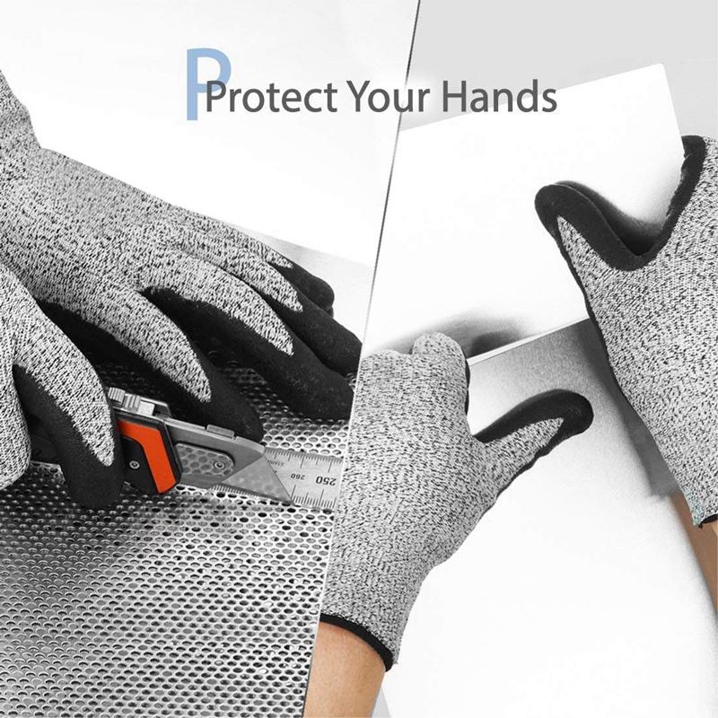 3X-Nivel-5-Guantes-Resistentes-Al-Corte-3D-Ajuste-Elastico-de-Confort-Durade-W6H miniatura 6
