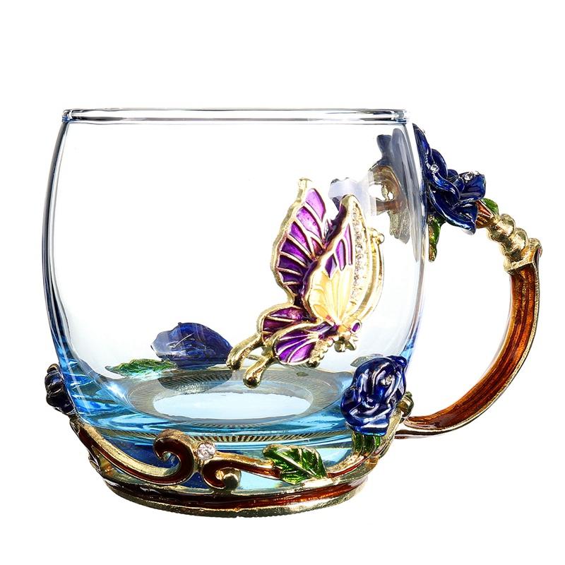 1X-Schoenheit-Und-Neuheit-Emaille-Kaffee-Tasse-Becher-Blume-Tee-Glas-Tassen-D7P1 Indexbild 4