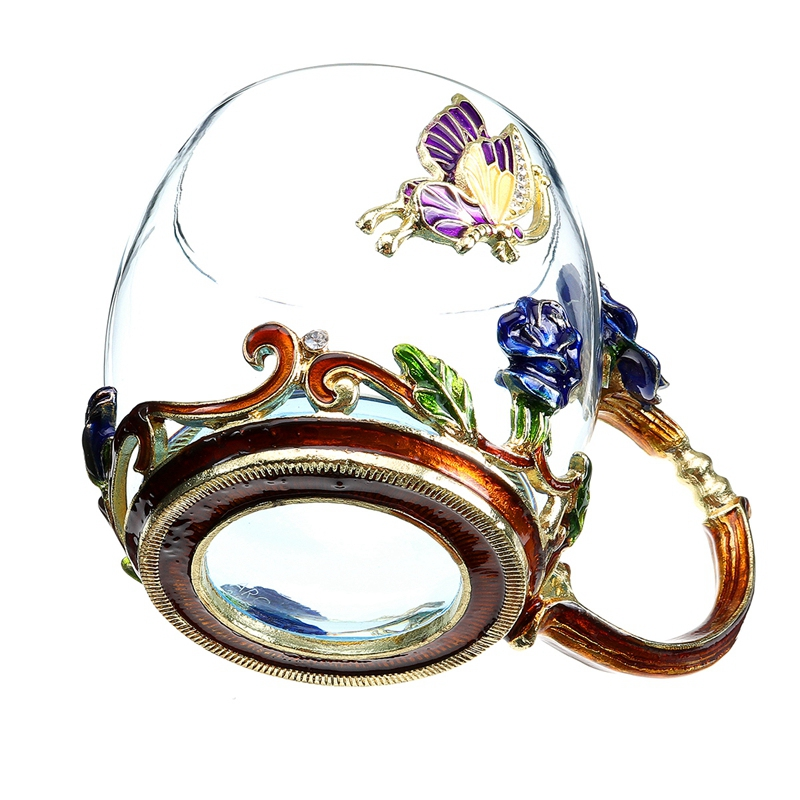 Beauty-And-Novelty-Enamel-Coffee-Cup-Mug-Flower-Tea-Glass-Cups-For-Hot-And-K5Y1 thumbnail 5