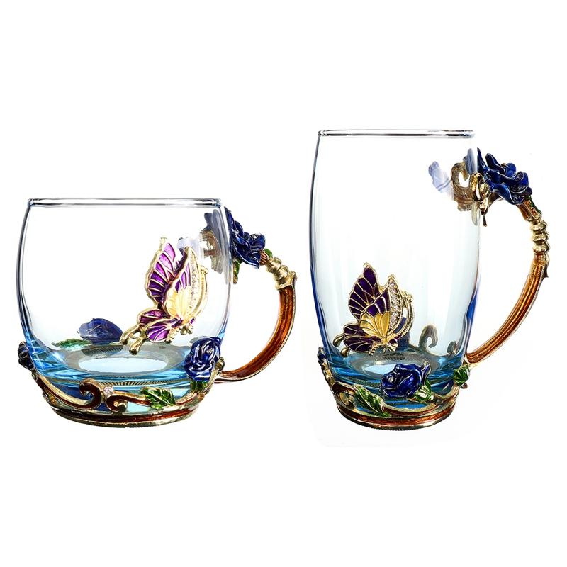 1X-Schoenheit-Und-Neuheit-Emaille-Kaffee-Tasse-Becher-Blume-Tee-Glas-Tassen-D7P1 Indexbild 8