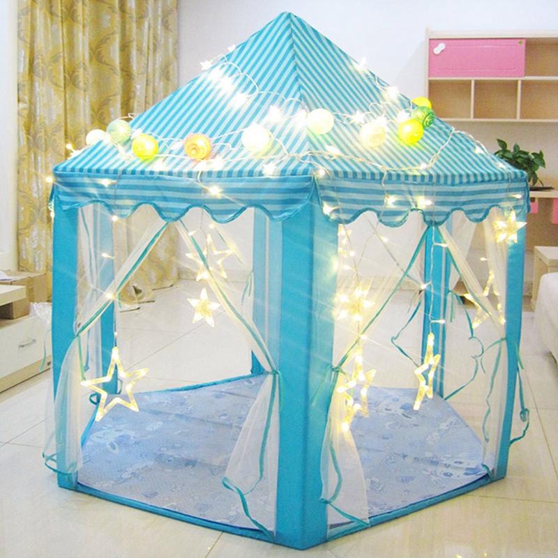3X(Spielen Sie Feen Haus Haus Haus Indoor Und Außen Kinder Spiel Zelt Hexagon PrinzesH9V1) 111ca3