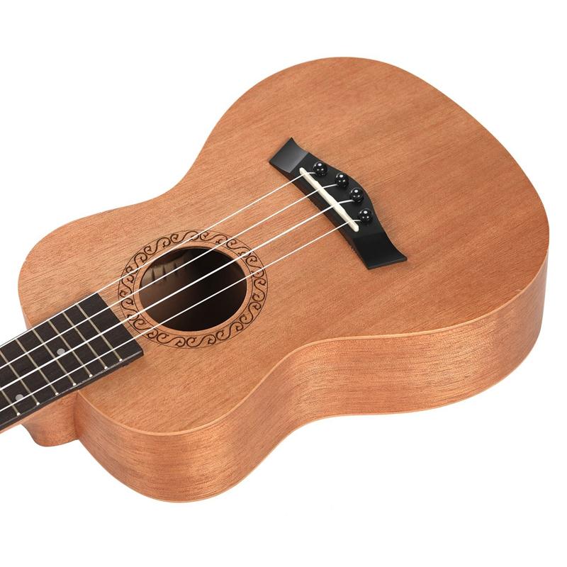 Konzert Ukulele 23 Zoll Uku 4 Saiten Gitarre Mahagoni Hals für Kinder Er O4A9 1X