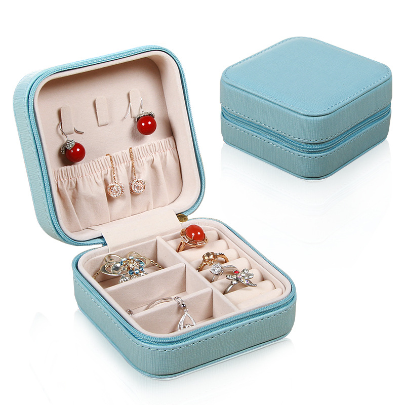 Portable-Jewelry-Case-Packing-Jewelry-Box-Makeup-Organizer-Cosmetic-Box-J8X6 thumbnail 4