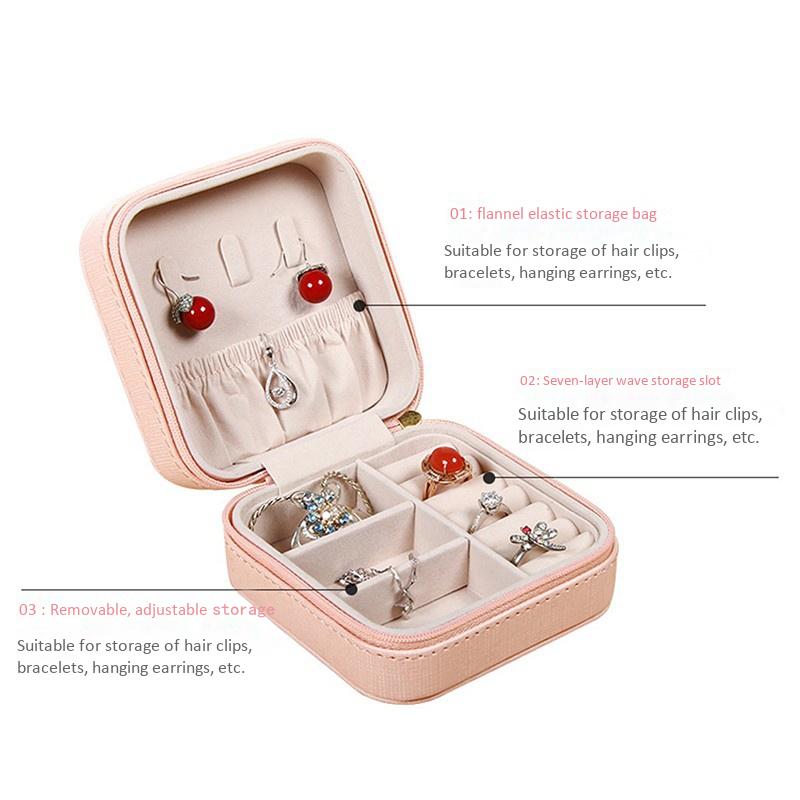 Portable-Jewelry-Case-Packing-Jewelry-Box-Makeup-Organizer-Cosmetic-Box-J8X6 thumbnail 6