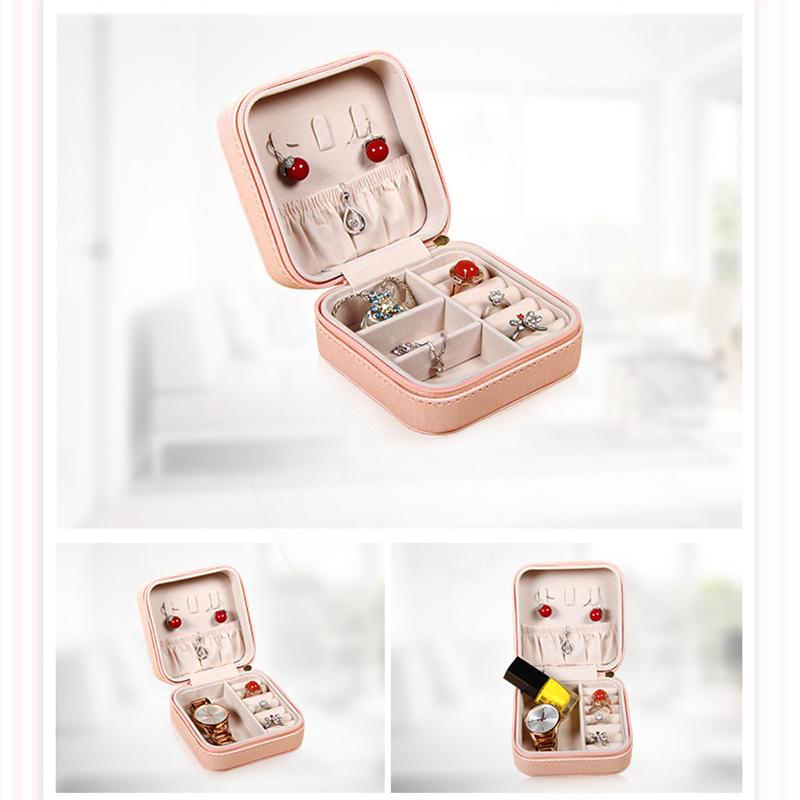 Portable-Jewelry-Case-Packing-Jewelry-Box-Makeup-Organizer-Cosmetic-Box-J8X6 thumbnail 7