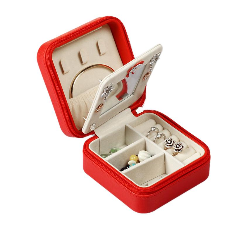 Portable-Jewelry-Case-Packing-Jewelry-Box-Makeup-Organizer-Cosmetic-Box-J8X6 thumbnail 12