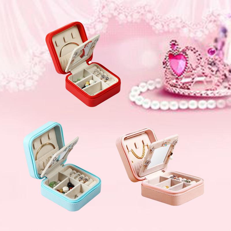 Portable-Jewelry-Case-Packing-Jewelry-Box-Makeup-Organizer-Cosmetic-Box-J8X6 thumbnail 19