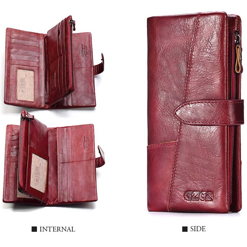 Gzcz-Women-Wallet-Genuine-Leather-Female-Long-Clutch-Lady-Money-Bag-Magic-Z-T8S1 thumbnail 15