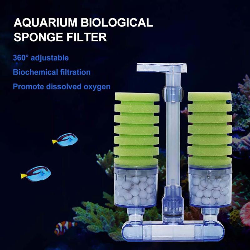 Aquarium-Filter-Ultra-Quiet-Aquarium-Biochemical-Sponge-Filter-Fish-Tank-Ai-E7Z6 thumbnail 3