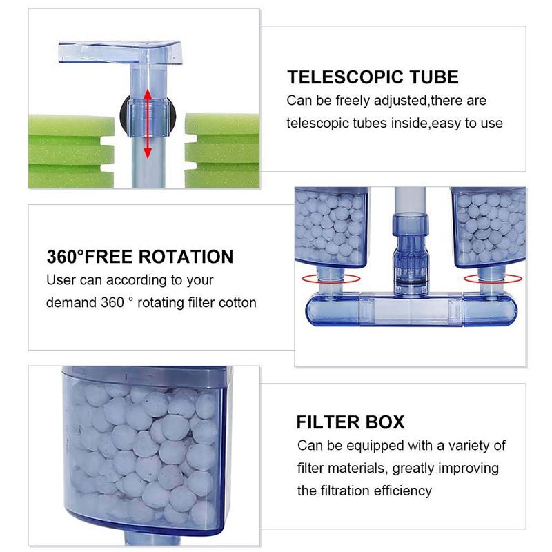 Aquarium-Filter-Ultra-Quiet-Aquarium-Biochemical-Sponge-Filter-Fish-Tank-Ai-E7Z6 thumbnail 7