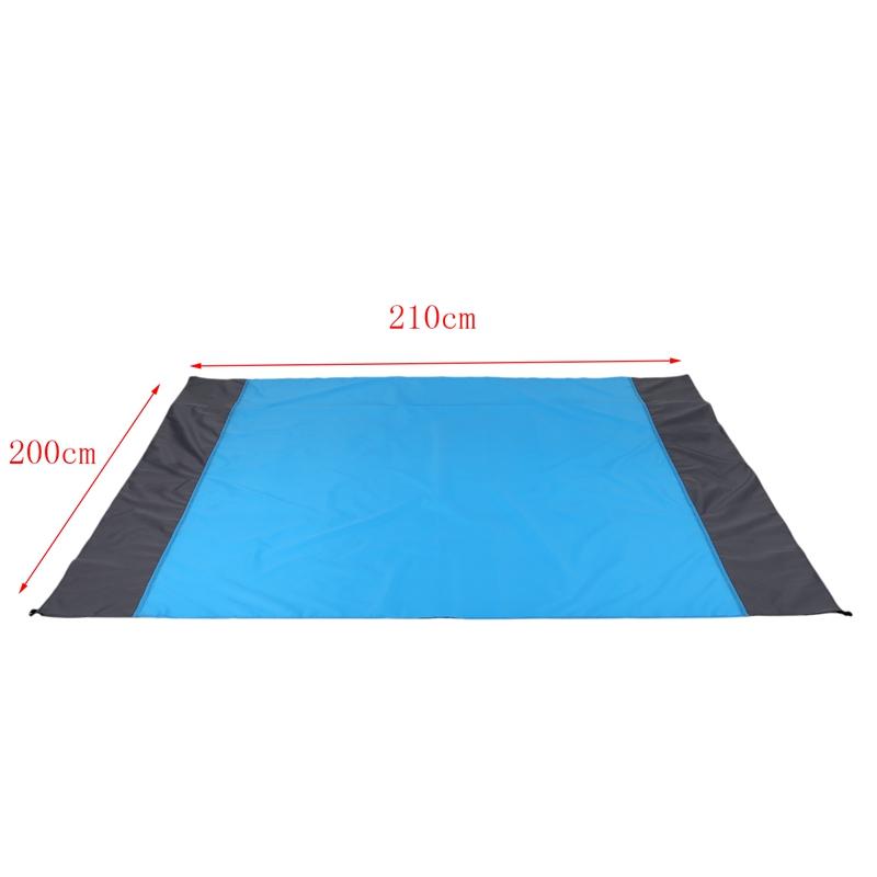 Tapis-De-Pique-Nique-Portable-Exterieur-Couverture-De-Plage-Impermeable-Mate-1G4 miniature 7