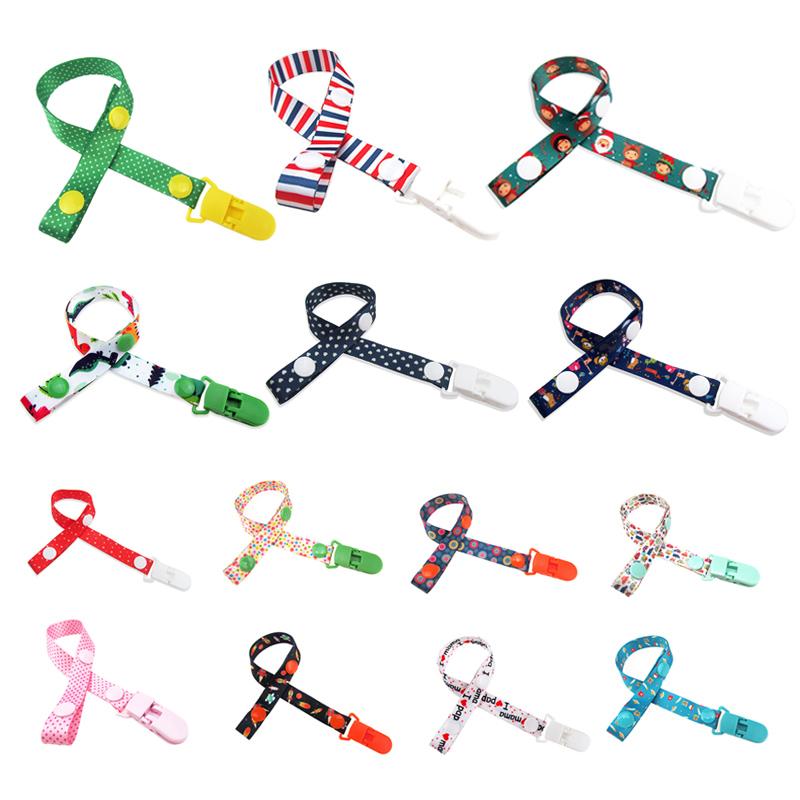 Baby-Pacifier-Chain-Cartoon-Print-Fixed-Button-Baby-Pacifier-Clip-Chain-Rib-Q4B6 thumbnail 12