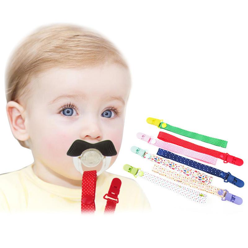 Baby-Pacifier-Chain-Cartoon-Print-Fixed-Button-Baby-Pacifier-Clip-Chain-Rib-Q4B6 thumbnail 19