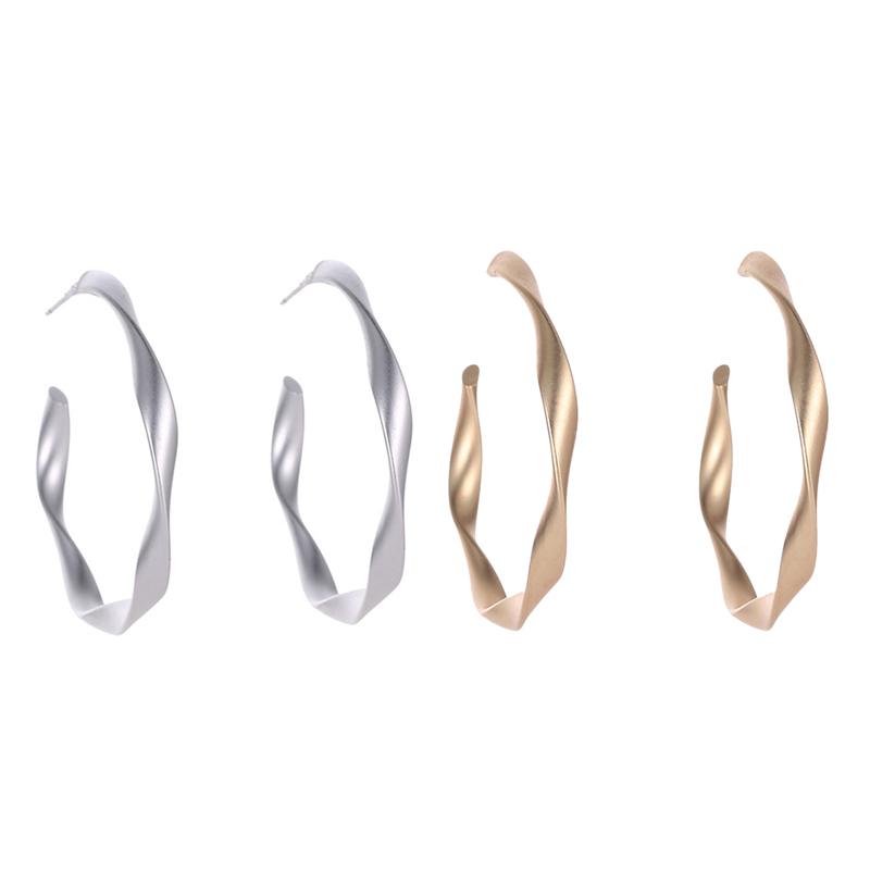 Indexbild 7 - 2X-Mode-Gold-Und-Silber-Ohrringe-Fuer-Frauen-Schmuck-Geschenke-Ohrringe-Mode-S8Z3
