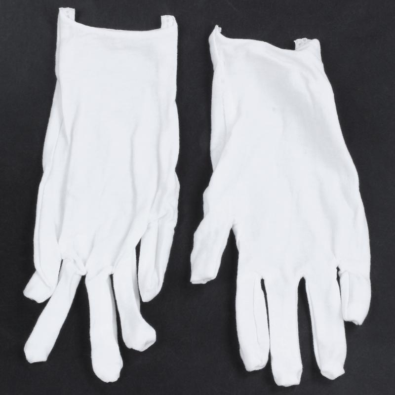 Blanc-Gants-En-Coton-Gants-Antistatiques-Gants-De-Protection-Pour-Les-Employ-j1y miniature 2