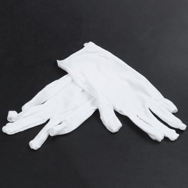 Blanc-Gants-En-Coton-Gants-Antistatiques-Gants-De-Protection-Pour-Les-Employ-j1y miniature 3