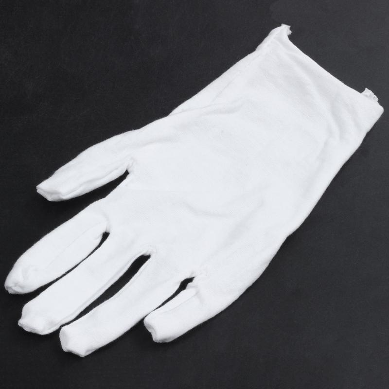 Blanc-Gants-En-Coton-Gants-Antistatiques-Gants-De-Protection-Pour-Les-Employ-j1y miniature 5