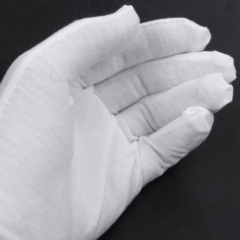 Blanc-Gants-En-Coton-Gants-Antistatiques-Gants-De-Protection-Pour-Les-Employ-j1y miniature 6
