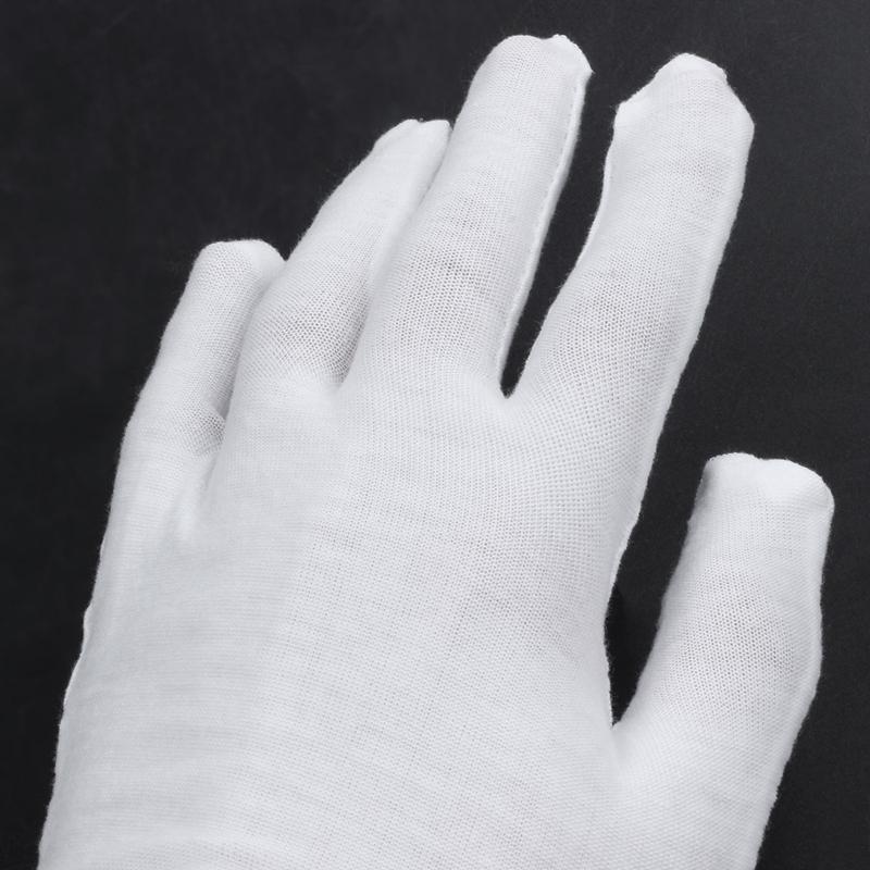 Blanc-Gants-En-Coton-Gants-Antistatiques-Gants-De-Protection-Pour-Les-Employ-j1y miniature 7